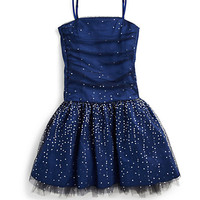 Un Deux Trois - Girl's Shirred Party Dress