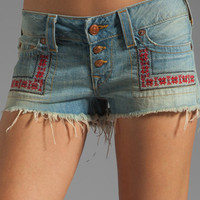 True Religion Faye Embroidered Short in Traveler from REVOLVEclothing.com