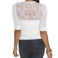 Lace Back Knit Cardigan | Shop Tops at Wet Seal