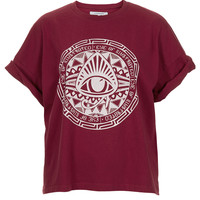 **Eye Boyfriend T-Shirt by Illustrated People - Jersey Tops - Clothing - Topshop