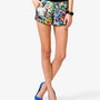 Abstract Floral Print Shorts