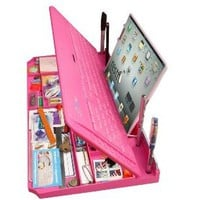 Bluetooth 6 in 1 Keyboard and Organizer with Tablet Stand Restt Color: Pink (also in black, white)