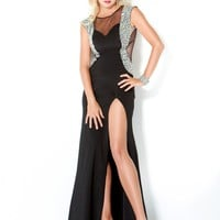 Jovani 4515 Black Beaded Sheer Prom Dress
