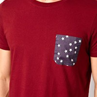 T-Shirt With Star Print Pocket