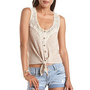 Crochet Detail Tie-Front Tank: Charlotte Russe