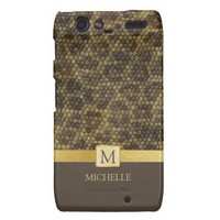 Snakeskin pattern with monogram from Zazzle.com