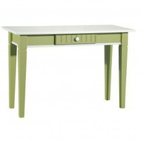 Papila Design One-Drawer Coffee Table in White & Lime Green - FC-46-GR - Accent Tables - Decor