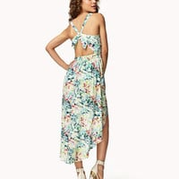 Cutout Tropical Floral Dress | FOREVER 21 - 2038886322