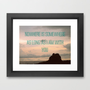 Somewhere With You Framed Art Print by RichCaspian