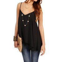 Black V Neck Tank Top