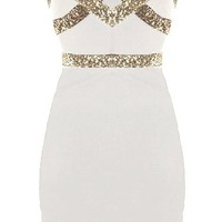 White Diamond Dress | Sequin Party Dresses | Rickety Rack