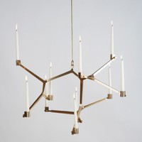 Agnes Hanging Candelabra - 10 Candles - Lighting - Living
