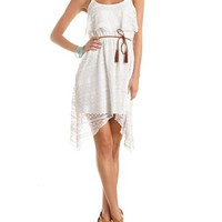 Sharkbite Hem Lace Tank Dress: Charlotte Russe