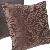 Decorative Throw Pillow Chocolate Brown Cut by PillowThrowDecor