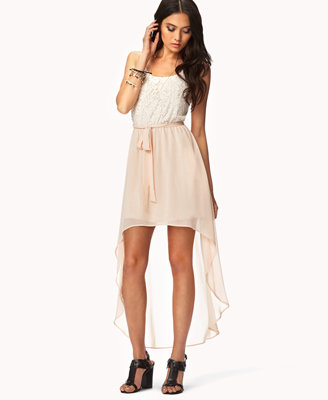 Floral Lace High-Low Dress from Forever 21 | Epic Wishlist
