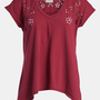 Idlewild &#x27;Burnout Rose&#x27; V-Neck Tee | Nordstrom