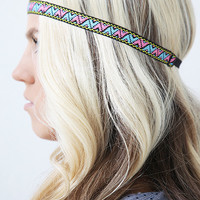Bright Neon Pastel Aztec Summer Tribal Head wrap