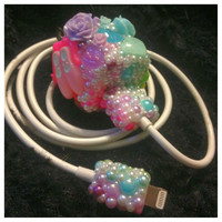 Cute Kawaii Girly Bling Rainbow Pearl iPhone 5 by HelloKatieCuties