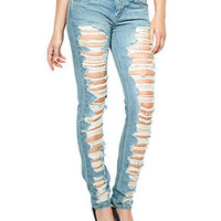 Levi's Juniors Jeans, Skinny Destroyed - Juniors Jeans - Macy's