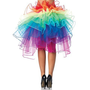 Leg Avenue A1999 Layered organza rainbow bustle skirt O/S MULTICOLOR