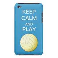 Keep Calm and Play Volleybal Form Factor iPod Case from Zazzle.com