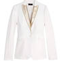 Chalk Lady Jacket with Leather Lapel by Joseph Now Available on Moda Operandi