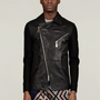 Vivienne Westwood Man Men&#x27;s Sweat Sleeve Leather Jacket