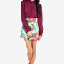 Fairly Flowering Skater Skirt $38