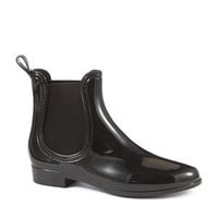 JuJu Black Patent Chelsea Boots