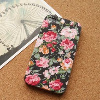 Handmade Leather Floral Case for iPhone