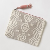 Geo Beaded Pouch