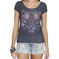 Cosmic Tiger Crop Tee | Shop Galaxy at Wet Seal