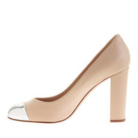 Etta silver cap toe pumps - shoes - Women's new arrivals - J.Crew