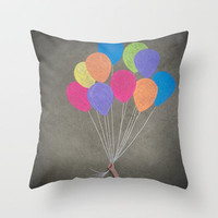 Up up and away Throw Pillow by Skye Zambrana