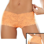 Sexy Hot Orange Lace Boy Shorts ...