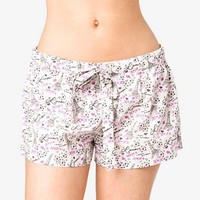 Parisian Print PJ Shorts | FOREVER 21 - 2021839382