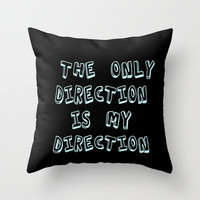 direction Throw Pillow by  Alexia Miles photography
