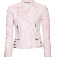 mytheresa.com -  Christopher Kane - PRINT LEATHER JACKET - Luxury Fashion for Women / Designer clothing, shoes, bags
