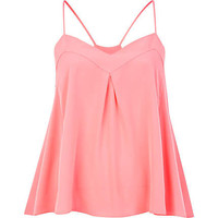 Pink swing cami top - sleeveless tops - tops - women