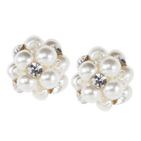 Payless, Women's Mia Pearl Cluster Earrings, Women's, Accessories