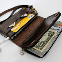 Dark Chocolate / Dark Brown Bifold Leather Wallet by AwesomeWomen
