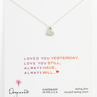 Dogeared 'Love - Sparkle Heart' Pendant Necklace | Nordstrom