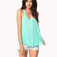 Essential Crochet Back Trapeze Top | FOREVER 21 - 2027602352