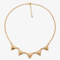 Faceted Triangle Necklace