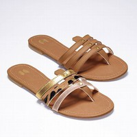 Calf-hair Slide Sandal