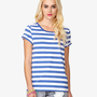 Striped Cuffed Sleeve Tee | FOREVER21 - 2049257171