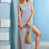 Plunge-back Maxi Cover-up