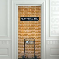 "Wall Door STICKER harry potter platform 9 3/4 poster, mural, decole, film 30x79"" (77x200 Cm):Amazon:Home & Kitchen"