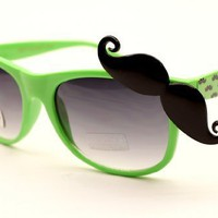 80s Wayfarer Party Sunglasses W Mustache W168:Amazon:Clothing
