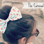 Mint and Red polka dot Hair Bow